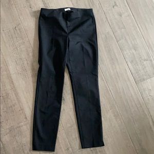Ecru fitted black pant size 2